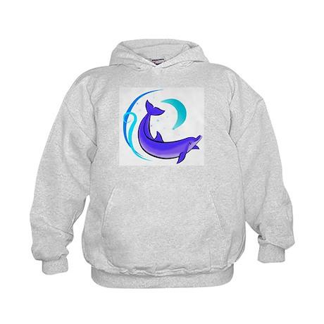 Night Dolphin Kids Hoodie