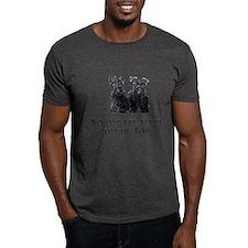 Scottish Terriers Best Dad Pu T-Shirt
