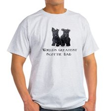 Scottish Terriers Best Dad Pu T-Shirt