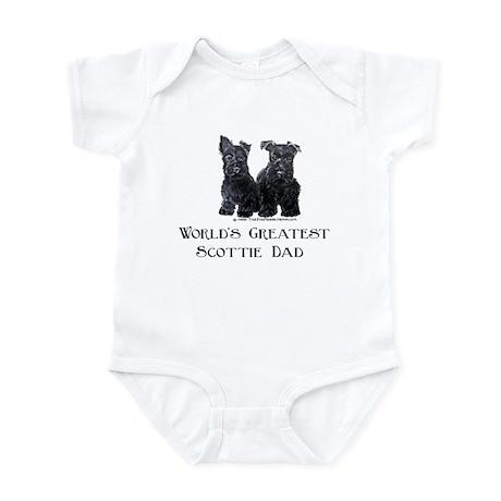 Scottish Terriers Best Dad Pu Infant Bodysuit