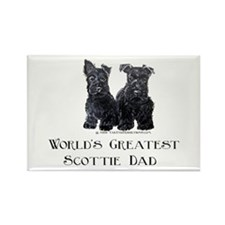 Scottish Terriers Best Dad Pu Rectangle Magnet