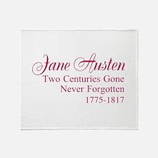 Austen Anniversary Throw Blanket