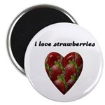 I LOVE STRAWBERRIES Magnet