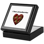 I LOVE STRAWBERRIES Keepsake Box