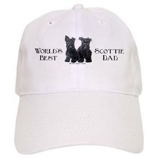 Scottish Terriers Best Dad Pu Baseball Cap