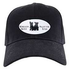 Scottish Terriers Best Dad Pu Baseball Hat