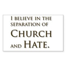 Church and Hate Rectangle Decal