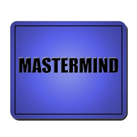 Mastermind Mouse Pad-Blue
