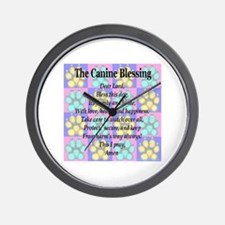 The Canine Blessing Wall Clock