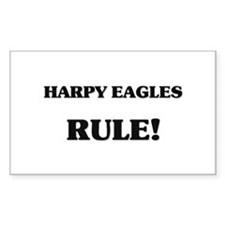 Harpy Eagles Rule Rectangle Decal