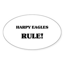 Harpy Eagles Rule Oval Decal