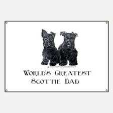 Scottish Terriers Best Dad Pu Banner