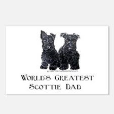 Scottish Terriers Best Dad Pu Postcards (Package o