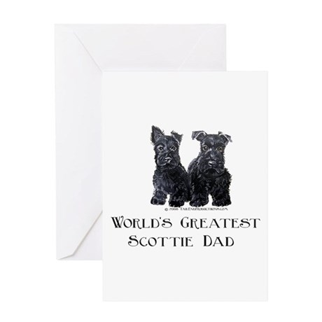 Scottish Terriers Best Dad Pu Greeting Card