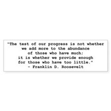 FDR Test of Progress Bumper Sticker