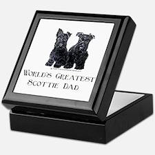 Scottish Terriers Best Dad Pu Keepsake Box