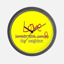 Love thy neighbor Wall Clock