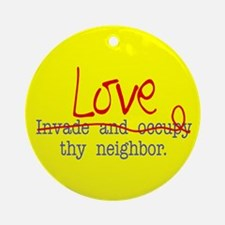 Love thy neighbor Keepsake (Round)