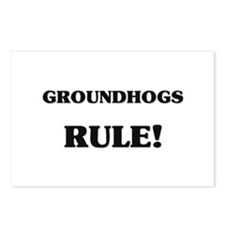 Groundhogs Rule Postcards (Package of 8)