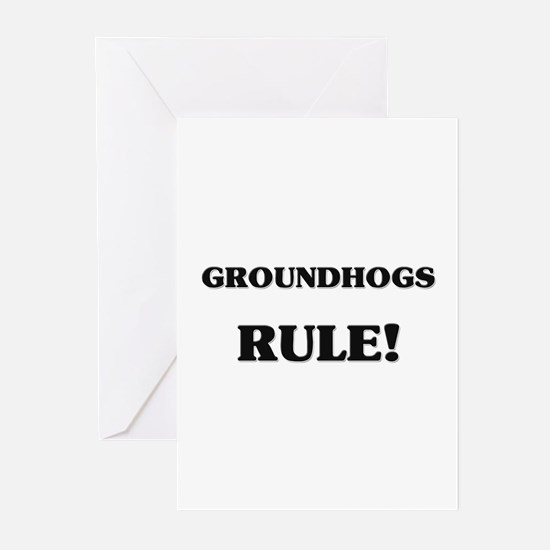 Groundhogs Rule Greeting Cards (Pk of 10)