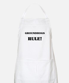 Groundhogs Rule BBQ Apron