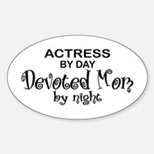 Actress Devoted Mom Oval Decal