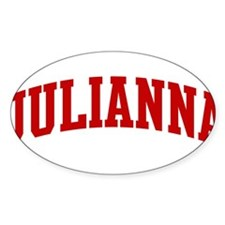 JULIANNA (red) Oval Decal