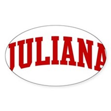 JULIANA (red) Oval Decal