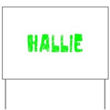 Hallie Faded (Green) Yard Sign