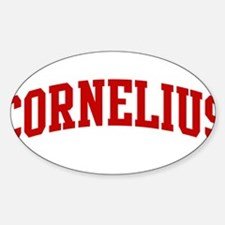 CORNELIUS (red) Oval Decal