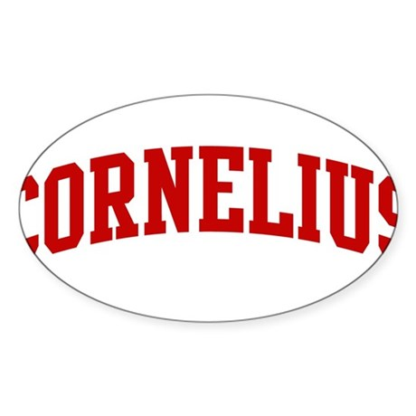 CORNELIUS (red) Oval Sticker