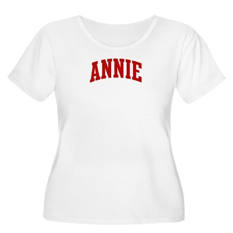 ANNIE (red) Women's Plus Size Scoop Neck T-Shirt