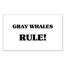 Gray Whales Rule Rectangle Decal