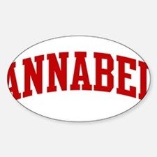 ANNABEL (red) Oval Decal