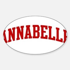 ANNABELLE (red) Oval Decal