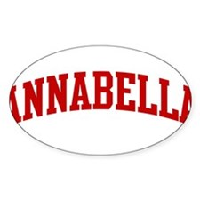 ANNABELLA (red) Oval Decal