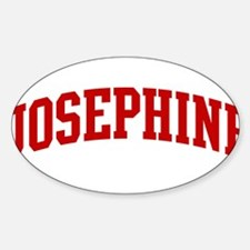 JOSEPHINE (red) Oval Decal