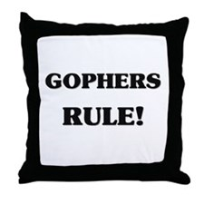 Gophers Rule Throw Pillow