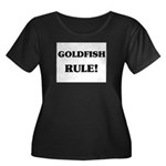Goldfish Rule Women's Plus Size Scoop Neck Dark T-