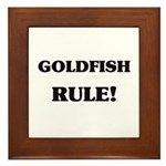 Goldfish Rule Framed Tile