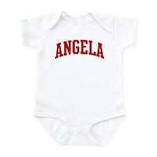 ANGELA (red) Infant Bodysuit