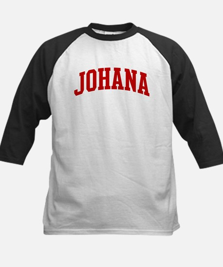 JOHANA (red) Kids Baseball Jersey