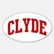 CLYDE (red) Oval Decal