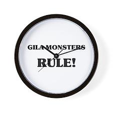 Gila Monsters Rule Wall Clock