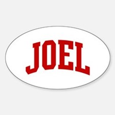 JOEL (red) Oval Decal