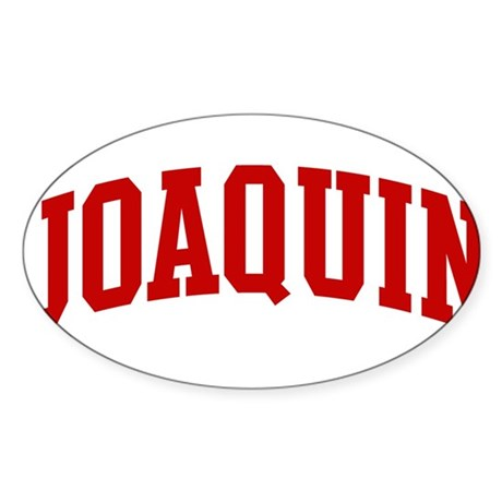 JOAQUIN (red) Oval Sticker