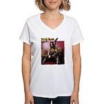 Jason Hook w/Explorer Women's V-Neck T-Shirt