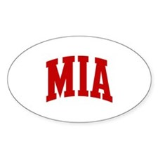 MIA (red) Oval Decal