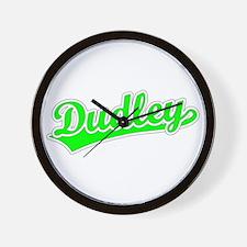 Retro Dudley (Green) Wall Clock