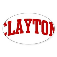 CLAYTON (red) Oval Decal